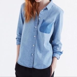Madewell Ombre Pocket Chambray Shirt - NWOT